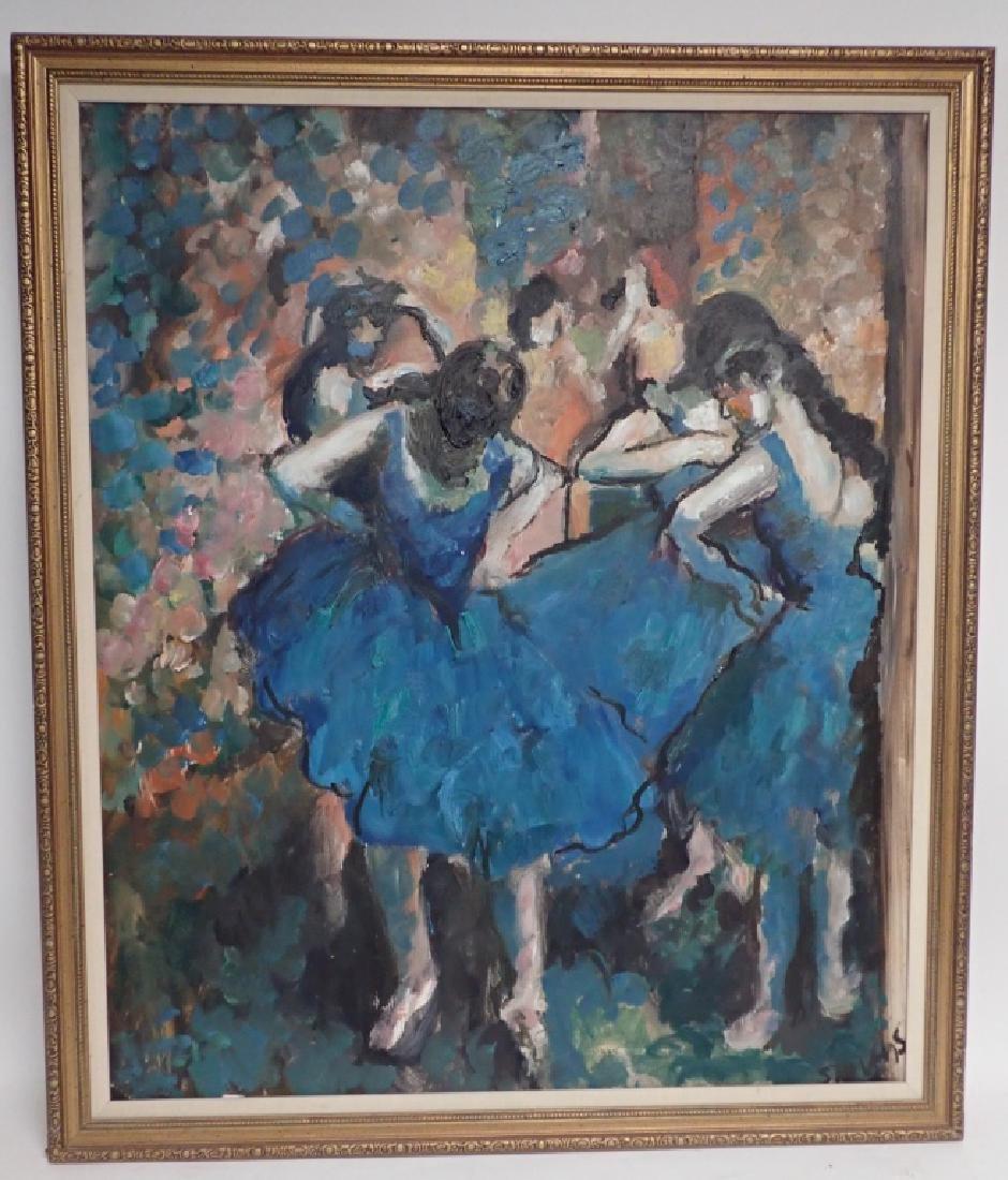 Framed Signed Painting of Dancers - 10