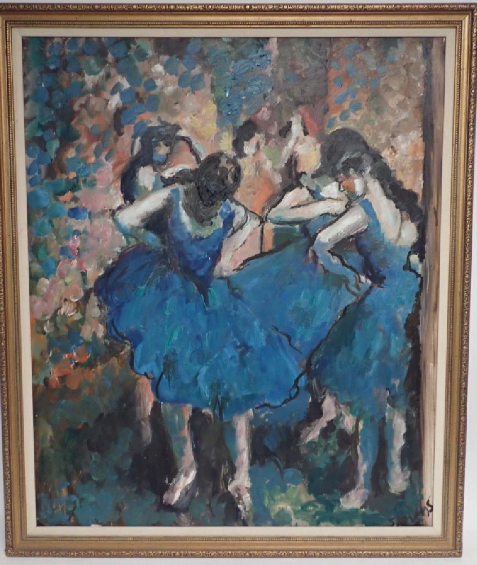 Framed Signed Painting of Dancers