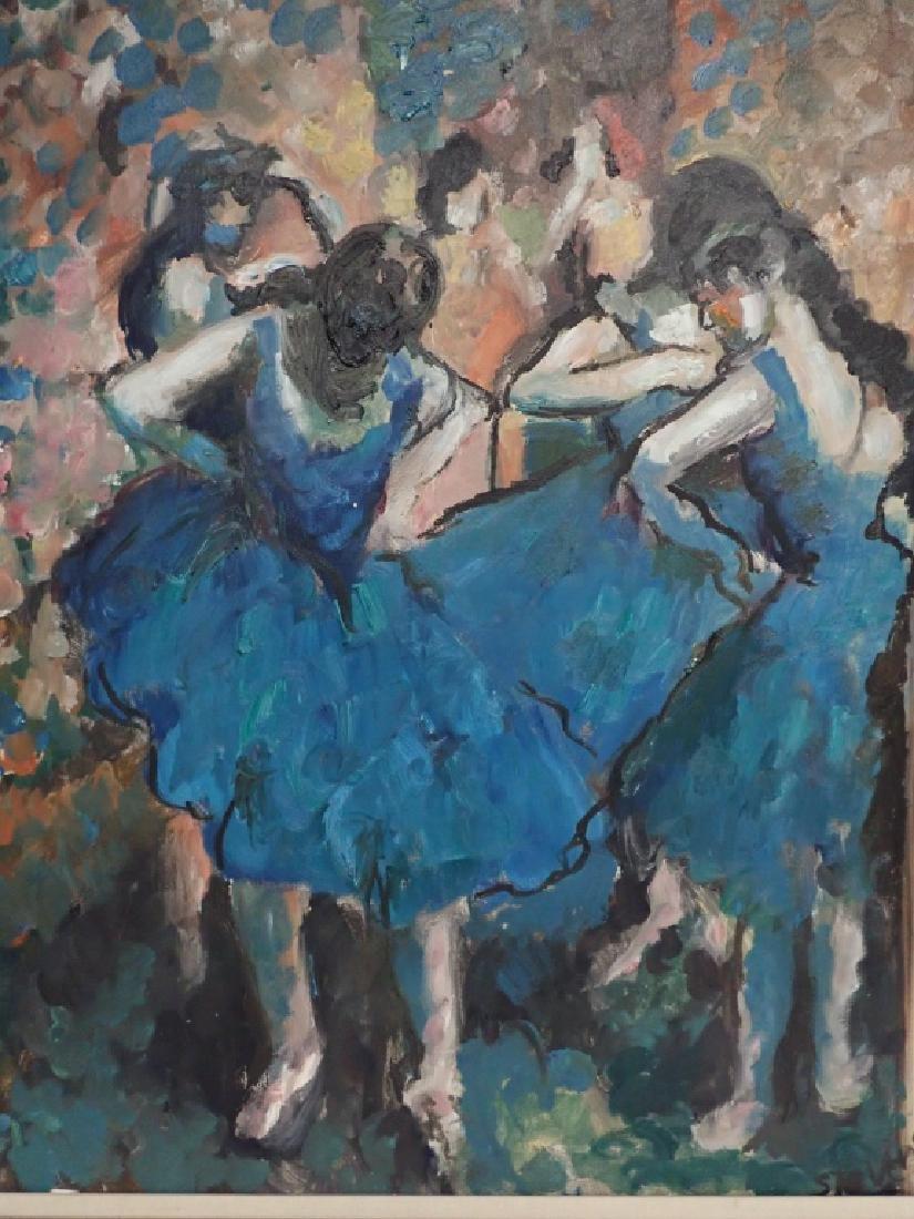Framed Signed Painting of Dancers - 2