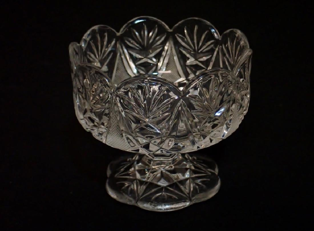 Grouping of Cut Crystal Serving Ware - 10