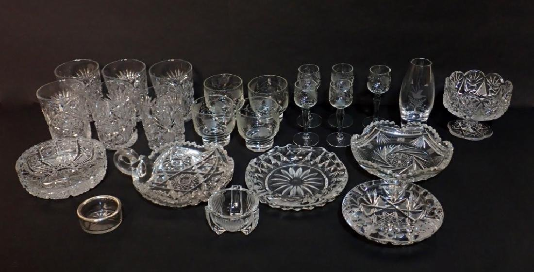 Grouping of Cut Crystal Serving Ware