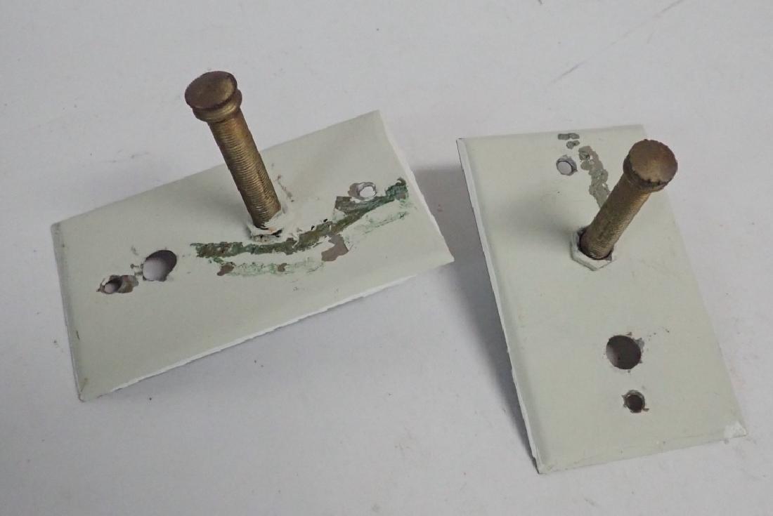Set of 2 Tole Metal & Gilt Wood Sconces - 10