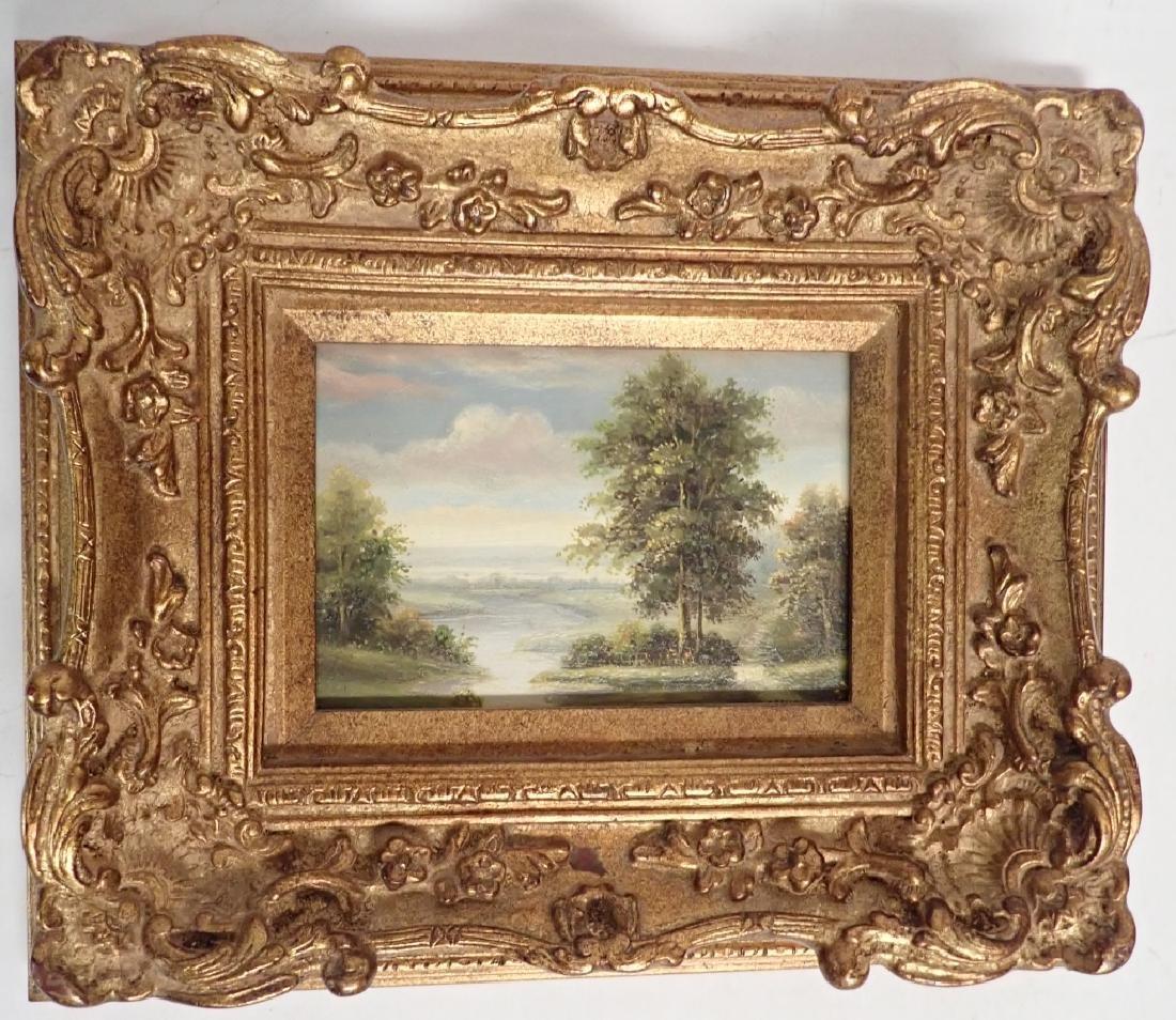 Signed Landscape Oil Painting - 10