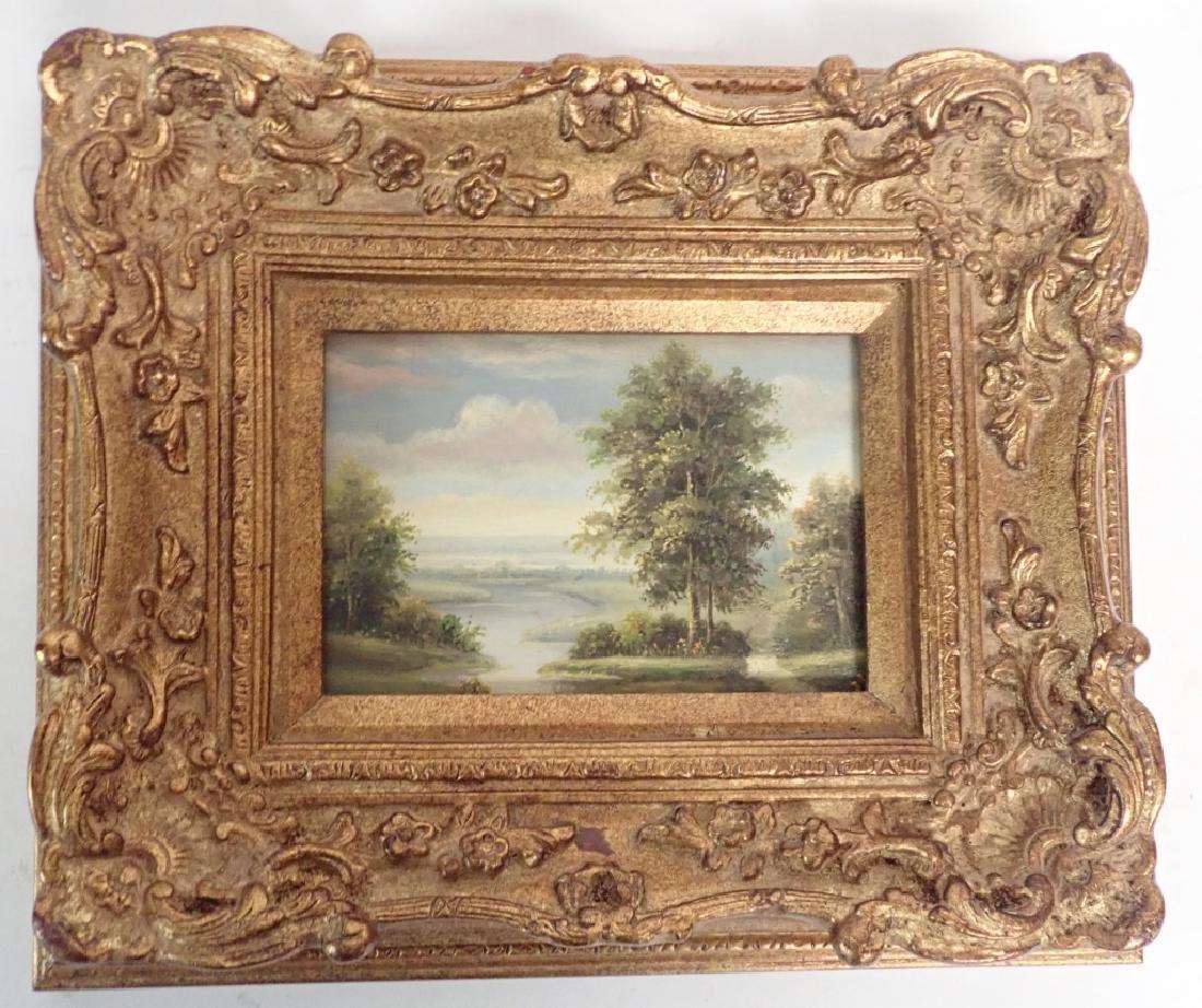 Signed Landscape Oil Painting