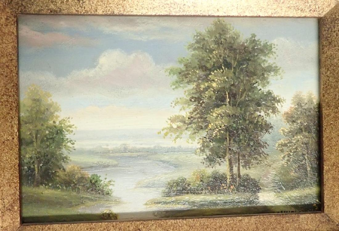Signed Landscape Oil Painting - 2