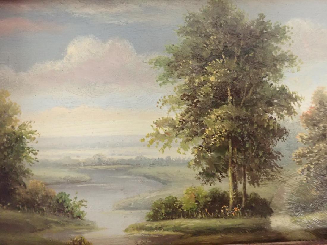 Signed Landscape Oil Painting - 8
