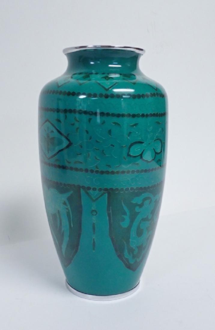 Asain Jade Green Cloisonne Vase - 10