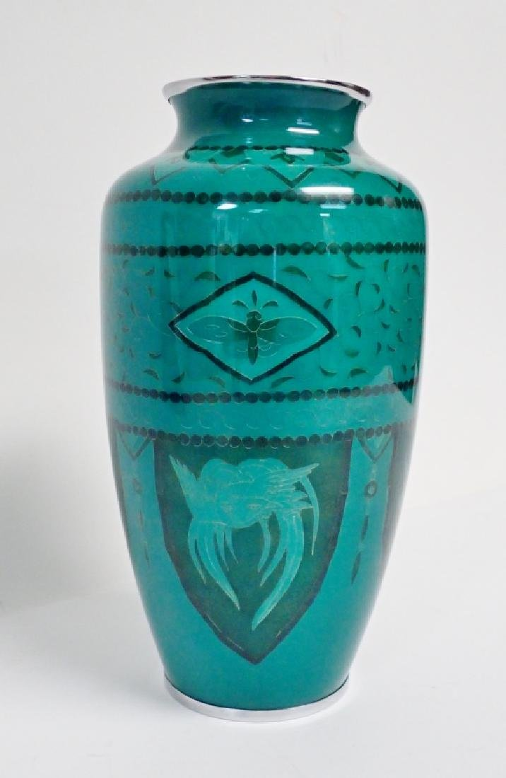 Asain Jade Green Cloisonne Vase