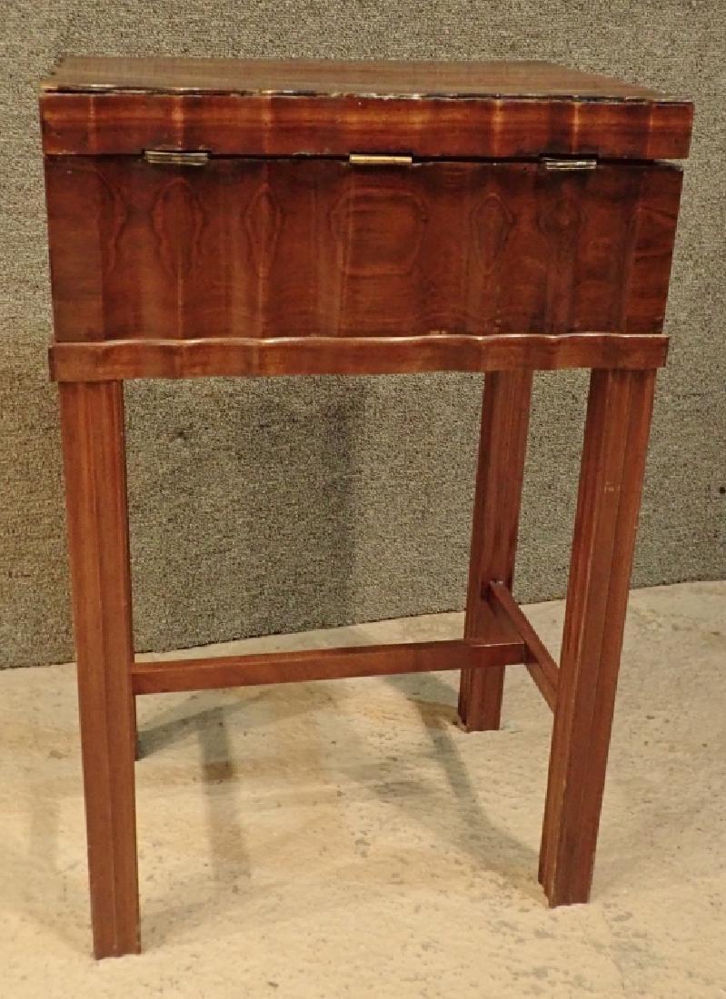 Anglo-Indian Zebra Wood Tea Box Table W Inlaid Drawers - 10