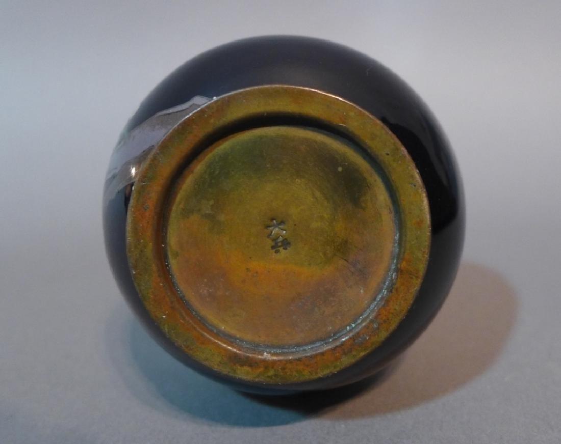 Japanese Cloisonne Vase - 7