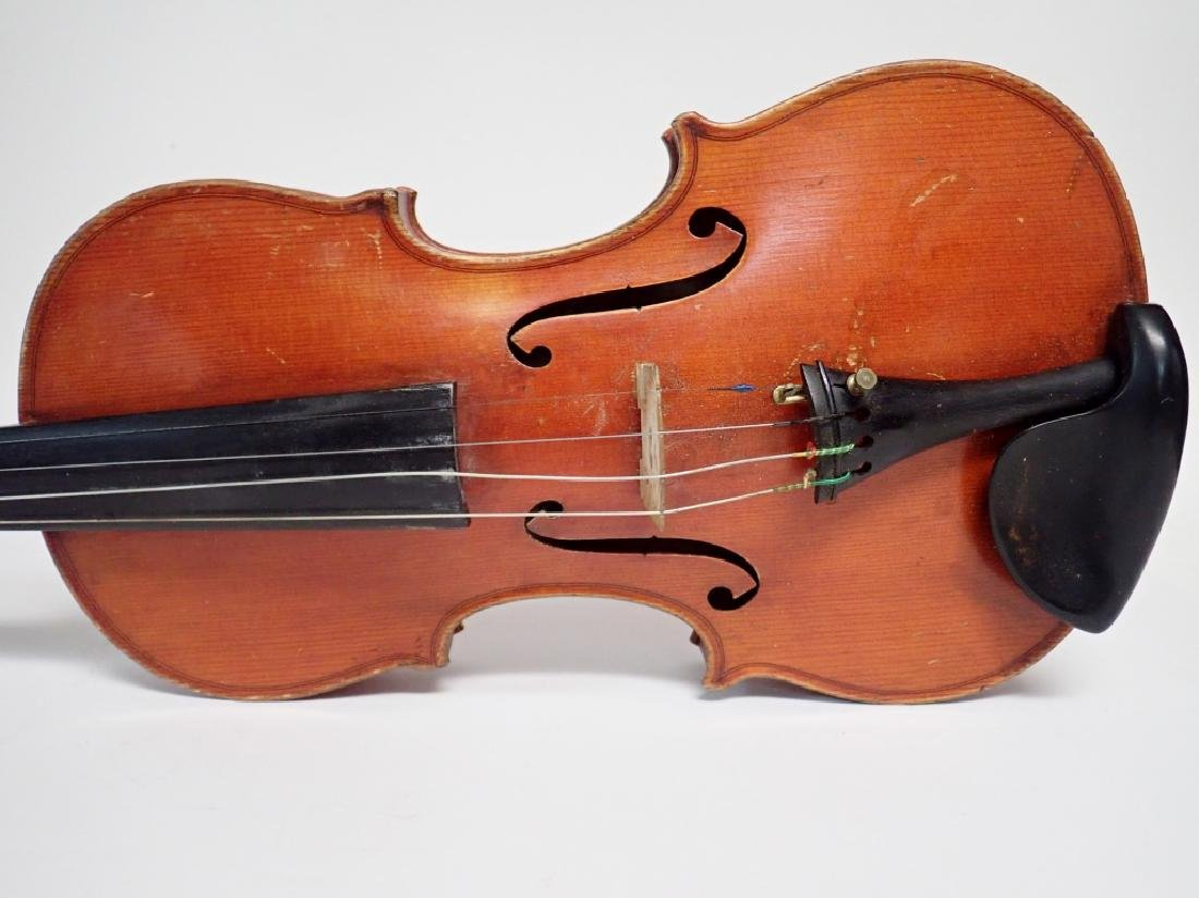 Vintage German Heinrich Heberlein Violin with Case - 9