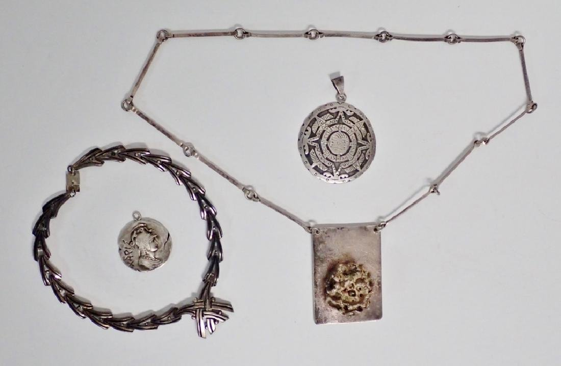 Collection of Mexico Sterling Silver Jewelry - 8
