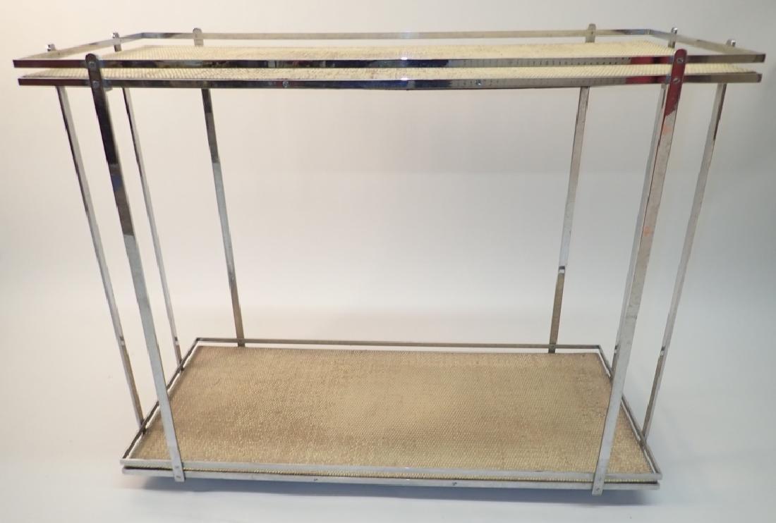 Mid-Century Modern Rolling Bar Cart
