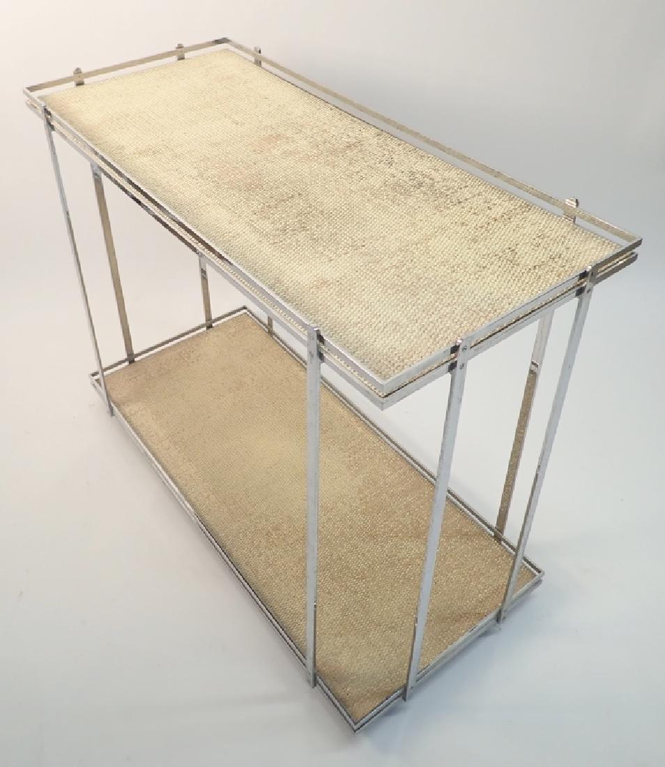 Mid-Century Modern Rolling Bar Cart - 3
