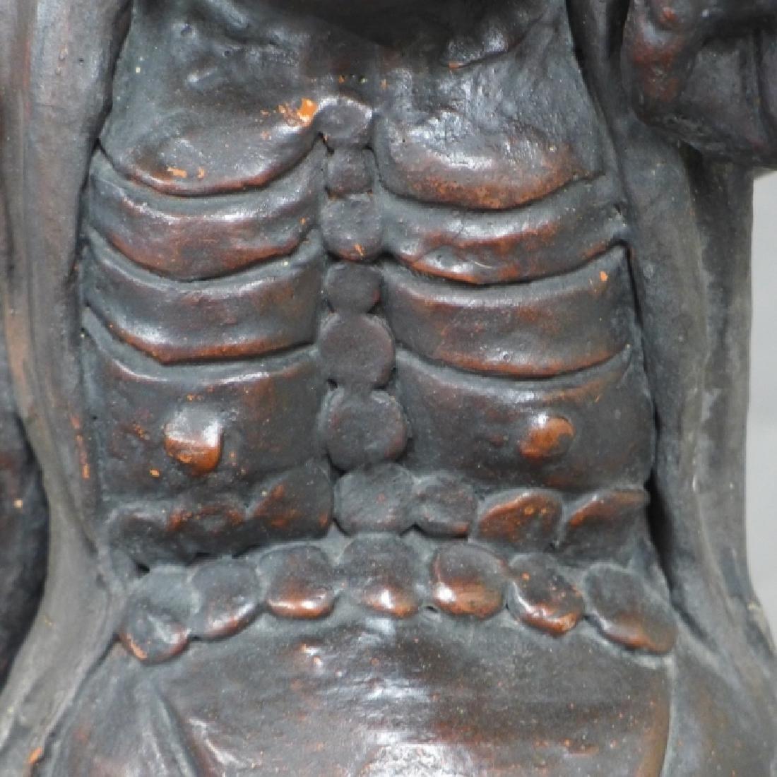 Asian Terracotta Figural Statue - 5
