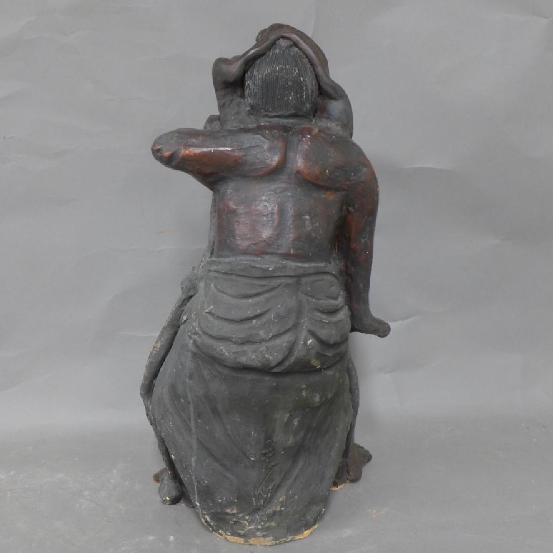 Asian Terracotta Figural Statue - 6