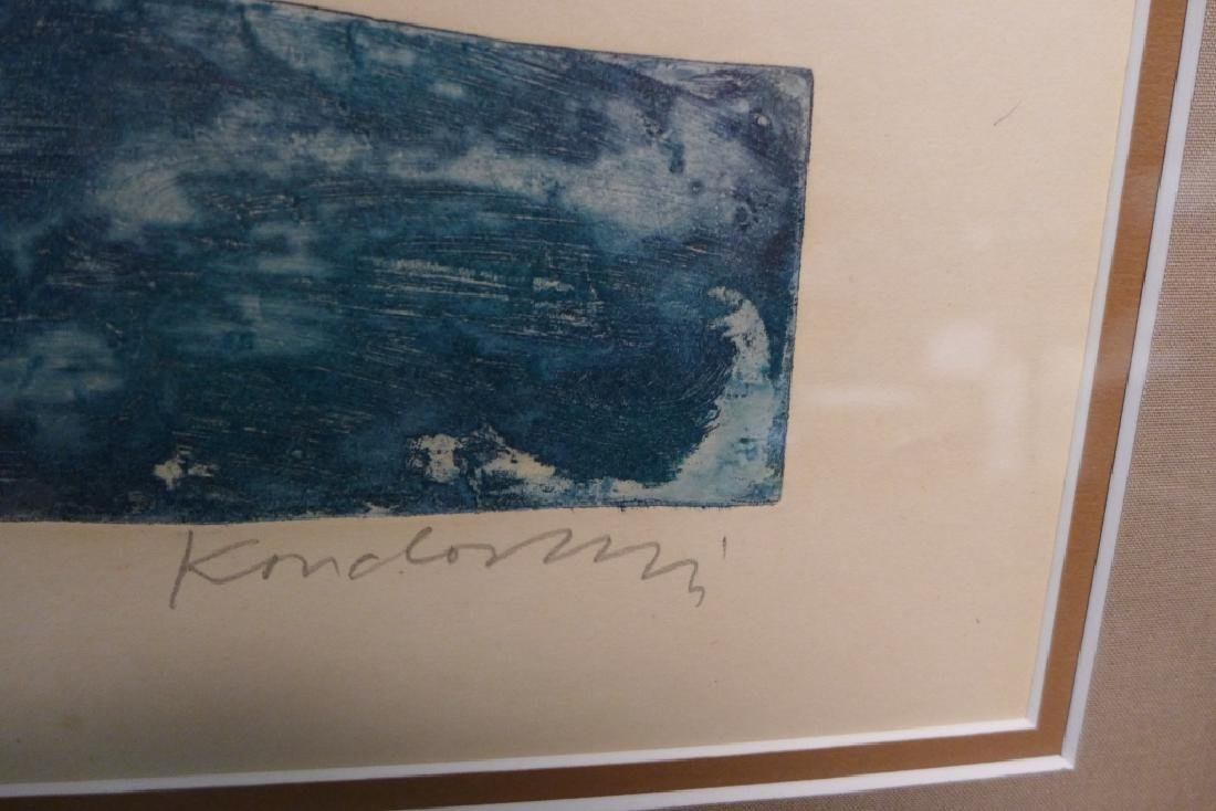 Two Artist Signed Abstract Figural Etchings - 4