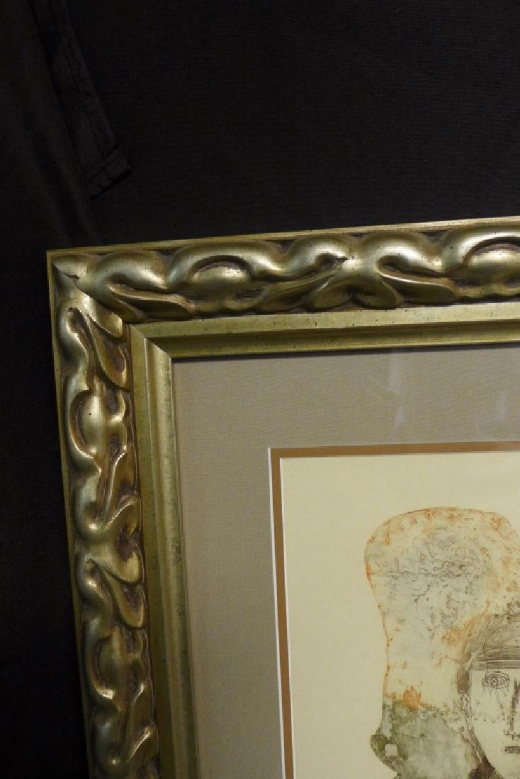 Two Artist Signed Abstract Figural Etchings - 5