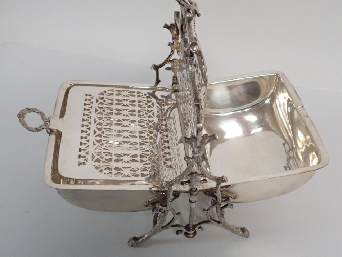 19th Century Silver Plate English Biscuit Warmer - 10