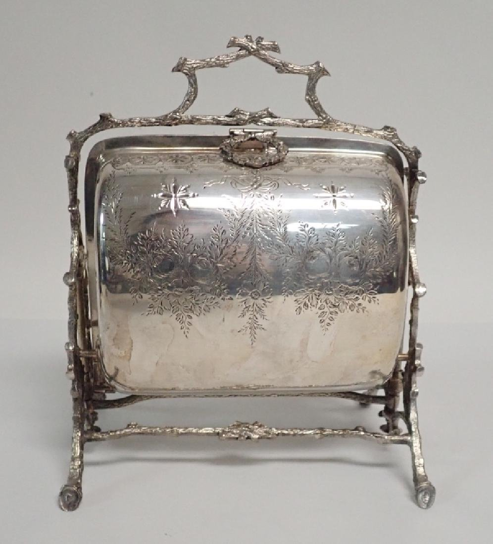 19th Century Silver Plate English Biscuit Warmer - 2