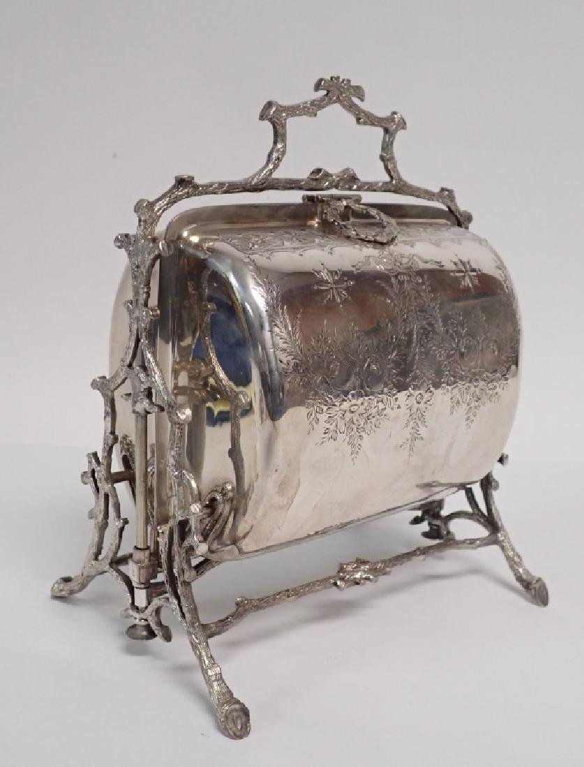 19th Century Silver Plate English Biscuit Warmer - 4