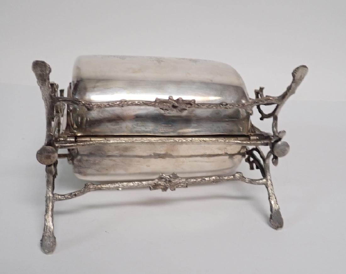 19th Century Silver Plate English Biscuit Warmer - 7