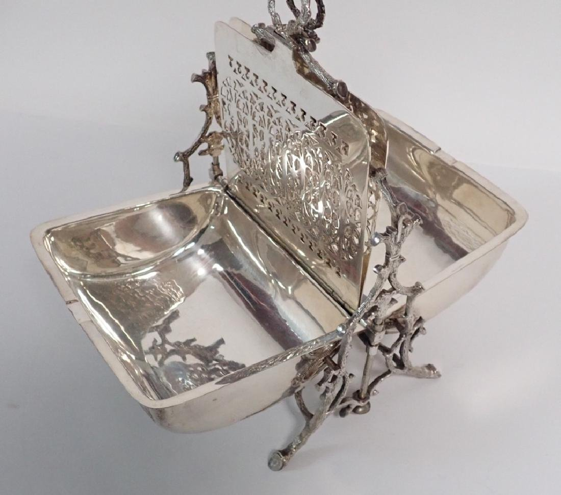 19th Century Silver Plate English Biscuit Warmer - 9