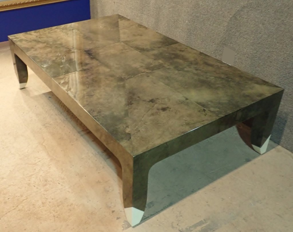 Karl Springer Lacquered Large Cocktail Table