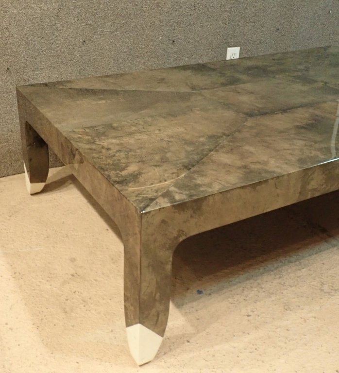 Karl Springer Lacquered Large Cocktail Table - 3