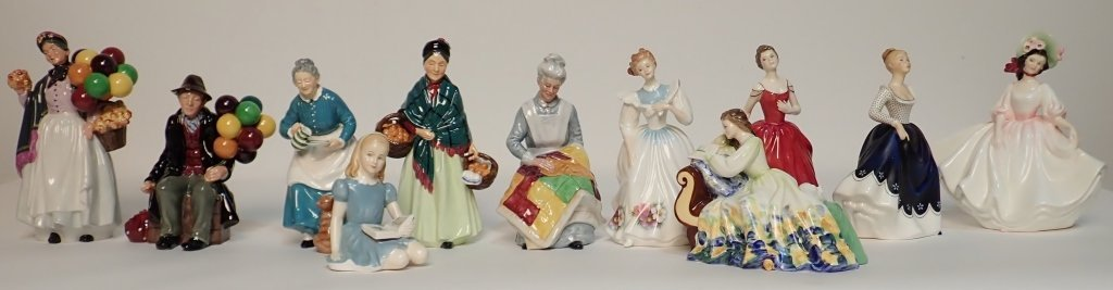 Mixed Grouping of Royal Doulton England Figurines