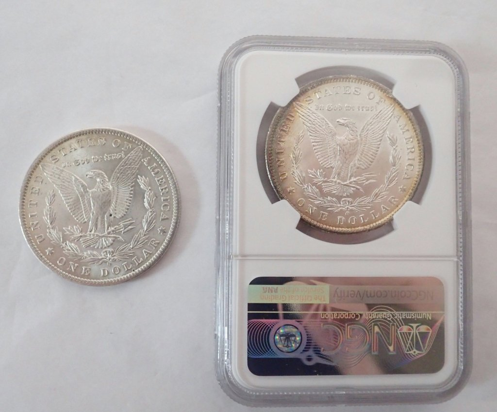 Two 1884 O $1 Morgan Silver Dollar Coins - 2