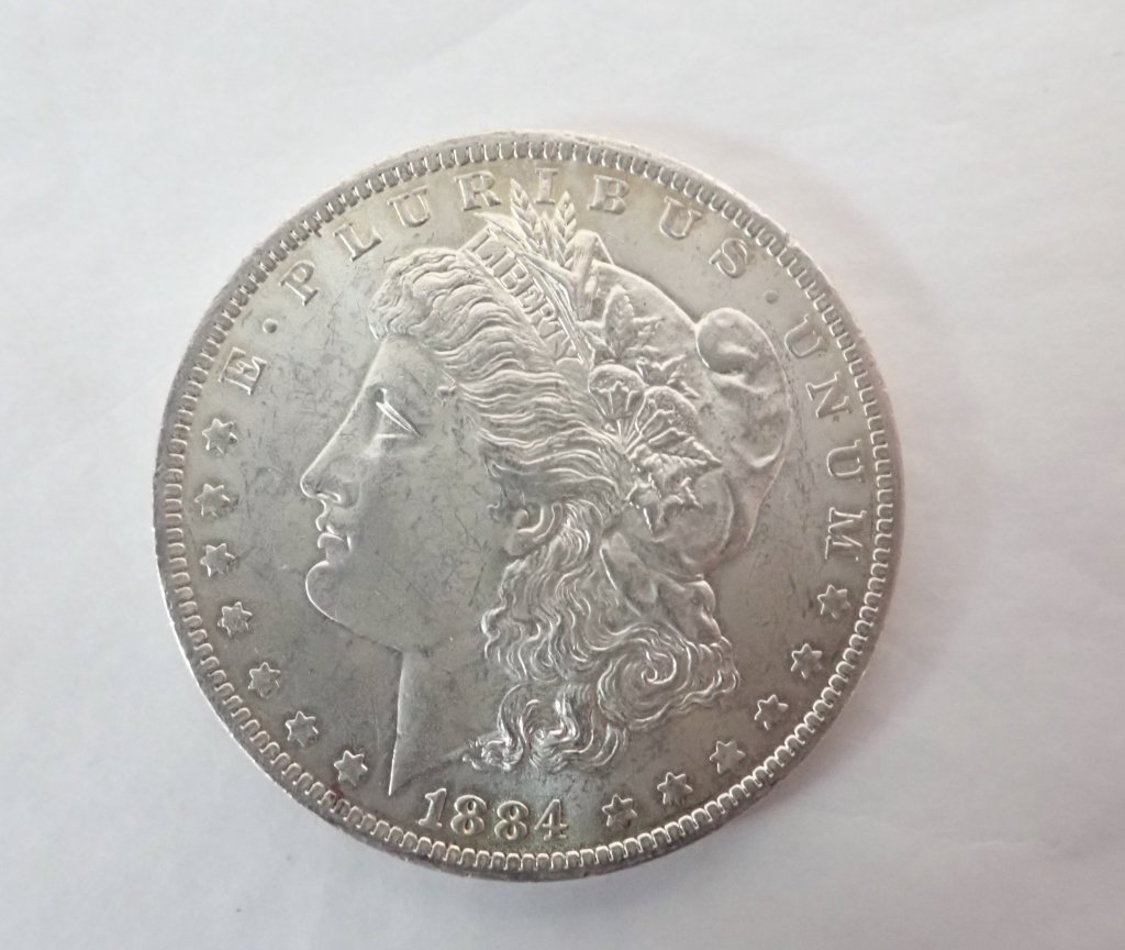 Two 1884 O $1 Morgan Silver Dollar Coins - 6