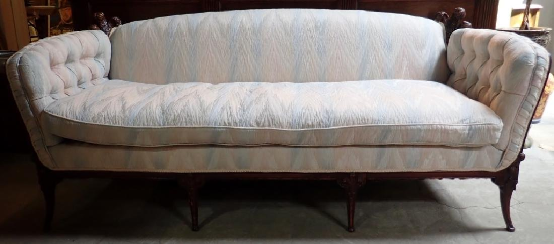 Mid-Century Carved Sofa