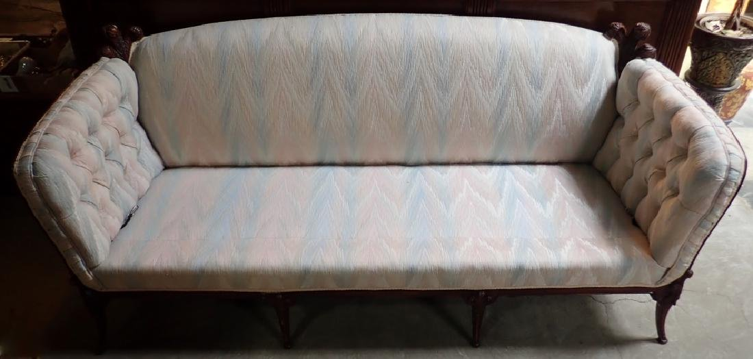 Mid-Century Carved Sofa - 5