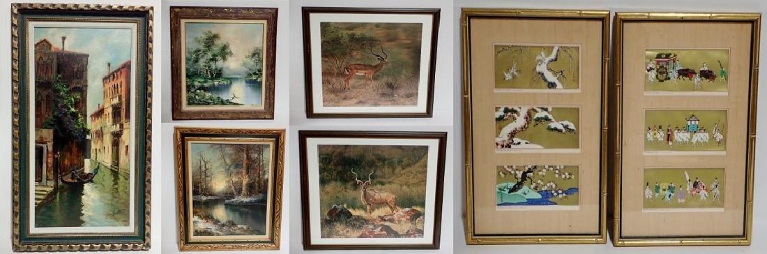 Grouping of Framed Artwork