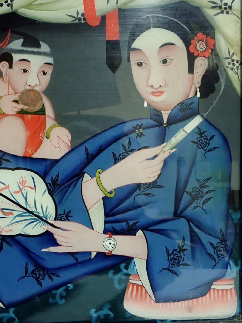 Chinese Reverse Painting on Glass - 11