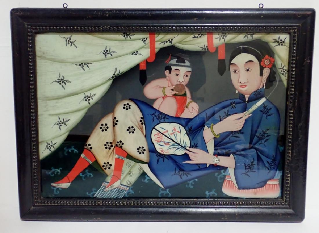 Chinese Reverse Painting on Glass