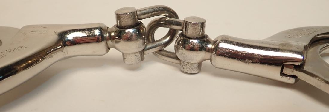 Vintage H&R Arms Company Hand Cuffs and Maglite - 4