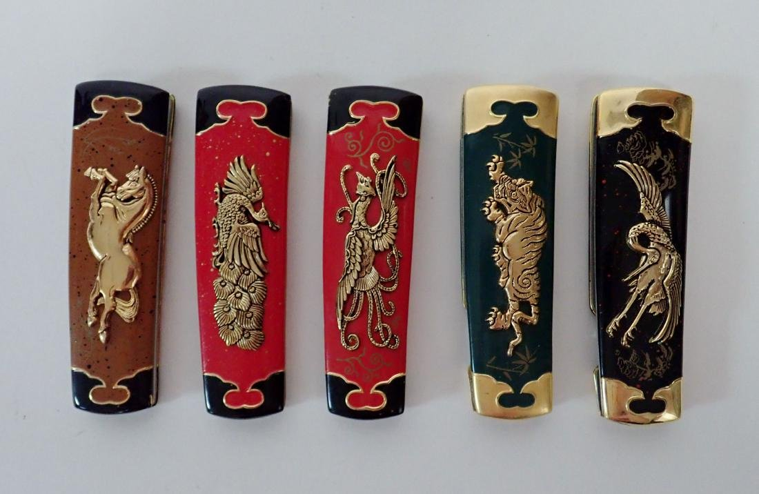 Set of 5 Franklin Mint Japanese Collector Knives