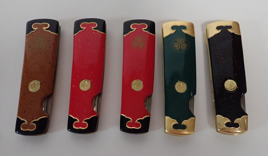 Set of 5 Franklin Mint Japanese Collector Knives - 3
