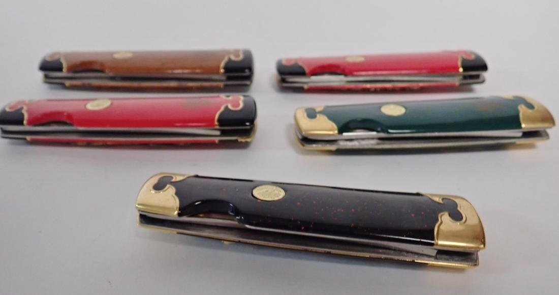 Set of 5 Franklin Mint Japanese Collector Knives - 4