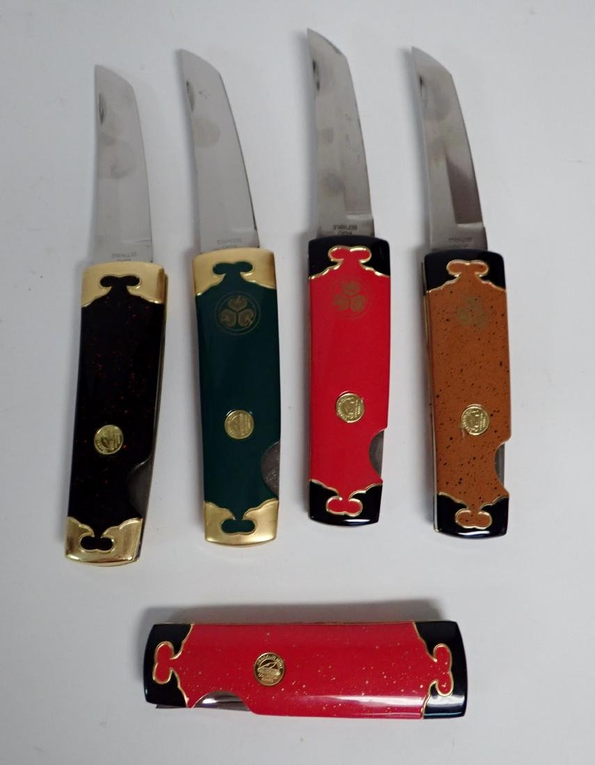 Set of 5 Franklin Mint Japanese Collector Knives - 6