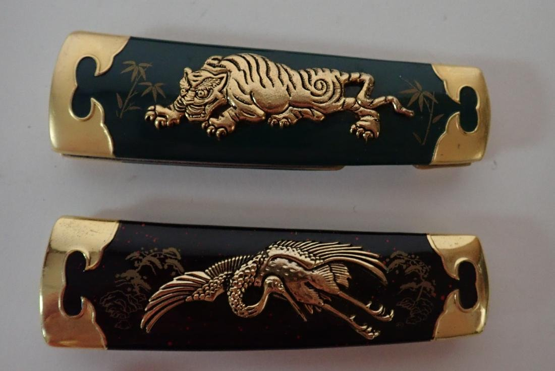 Set of 5 Franklin Mint Japanese Collector Knives - 7
