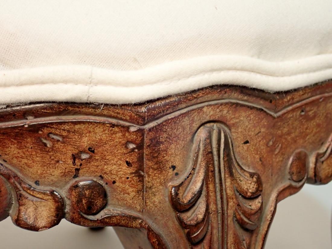 Pair of Upholstered Muslin Foot Stools - 9