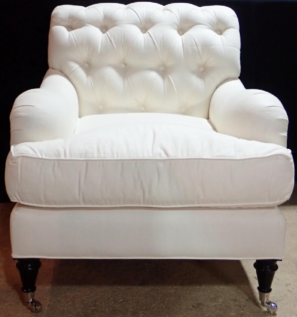 Barclay Butera Upholstered White Armchair