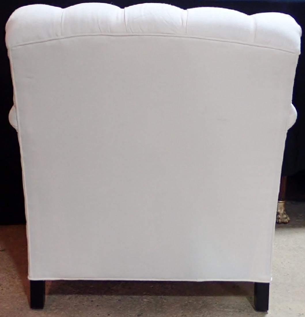 Barclay Butera Upholstered White Armchair - 3