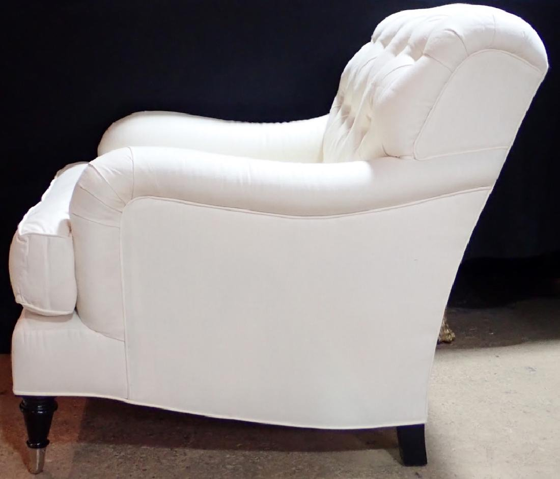 Barclay Butera Upholstered White Armchair - 4