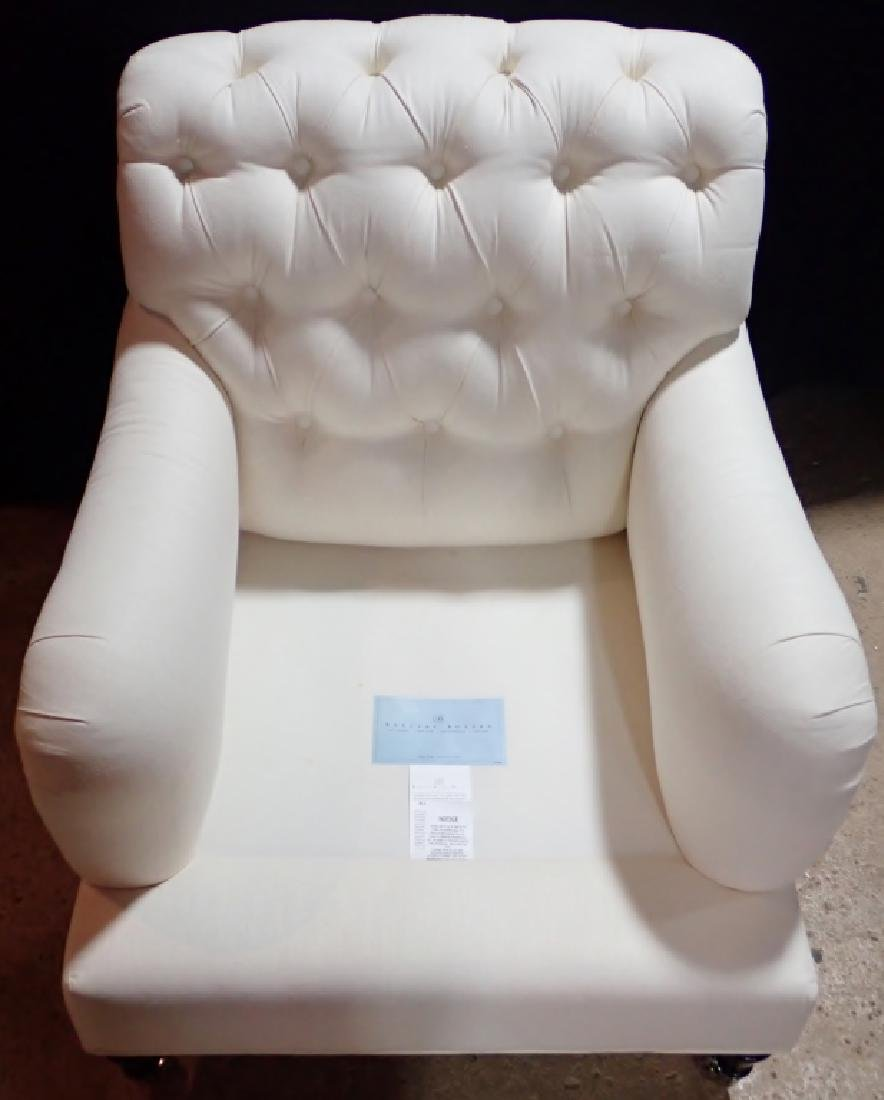 Barclay Butera Upholstered White Armchair - 5