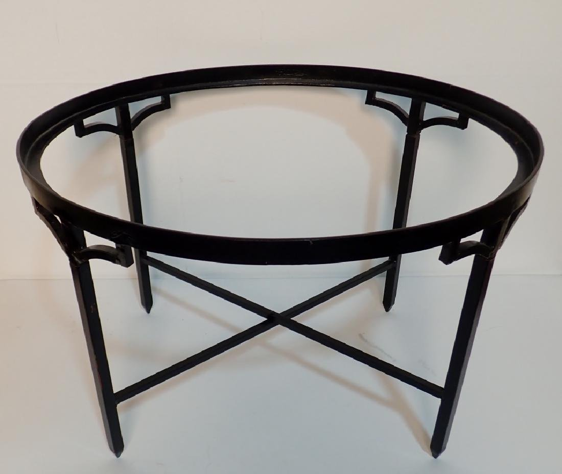 Painted Gilt Tole Metal Two Piece Tray Table - 5