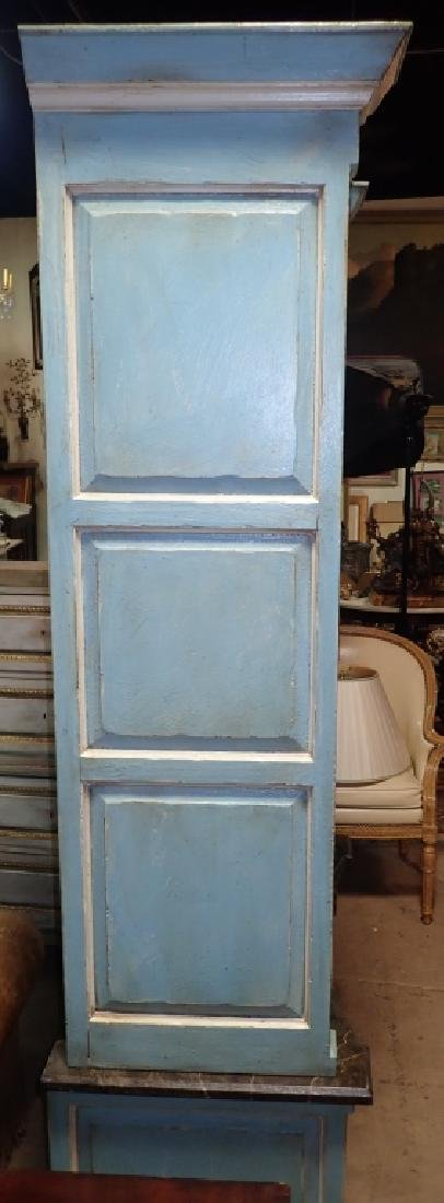 Continental Painted Curved Bibliotheque - 10
